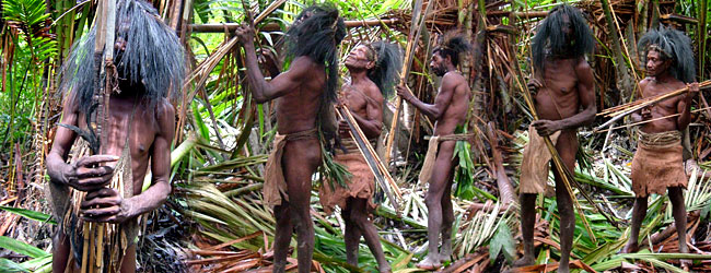 Jungle Tribe People The Tause tribe lives in the